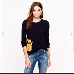 J Crew cat sweater